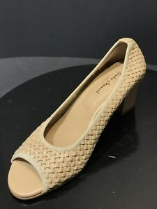 e04e84373625 SESTO MEUCCI Beige Women s Leather Open Toe Pumps Size US 10.5 M ...