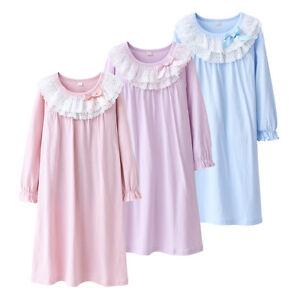 Girls Kids Pyjamas Long Sleeve Nightwear Cotton Night Dress Ladies