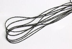 Echt-Natur-Schwarz-Roh-Diamant-Kette-Edelsteinkette-Top-Qualitaet-Collier-45-cm