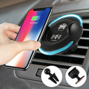 wireless charger induktives laden auto halter handy halterung f r iphone samsung ebay. Black Bedroom Furniture Sets. Home Design Ideas