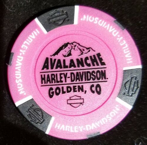 Neon Pink Harley Davidson Poker Chip NEW Dealer Avalanche Golden COLORADO