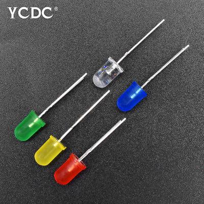 100PCS  Dia Round Assorted Colors LED Light Emitting Diodes Lamp DC 3V CA