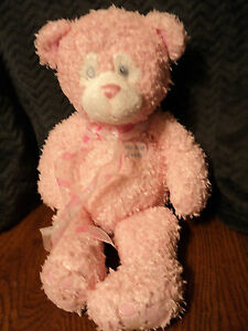 """First & Main My First Teddy Plush Teddy Tidbet Pink Hearts 19"""""""