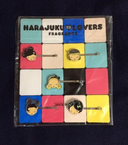 Harajuku Lovers Barrettes 5 Pack Piece Hair Clip Bobby Pins Gwen Stefani So Cute