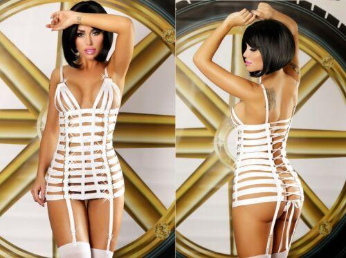 LOLITTA MYSTERY STRAPSKLEID kleid strapshalter weiß harness body clubwear
