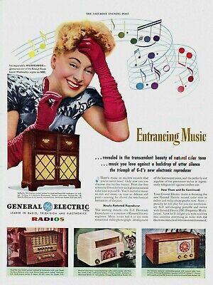 Vintage 1948 GE GENERAL ELECTRIC Daylight Television Radio