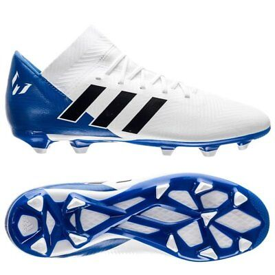 adidas Nemeziz Messi 18.3 FG 2018 Soccer Shoes Cleats White Royal Kids Youth | eBay
