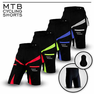 Mountain-Bike-Cycling-Shorts-Off-Road-Cycle-Coolmax-rembourre-Liner-court-neuf-taille-M-L-XL