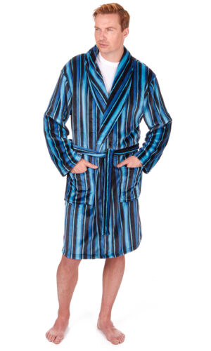Mens Supersoft Housecoat Fleece Bath Robe Dressing Gown Gents Warm Winter Style