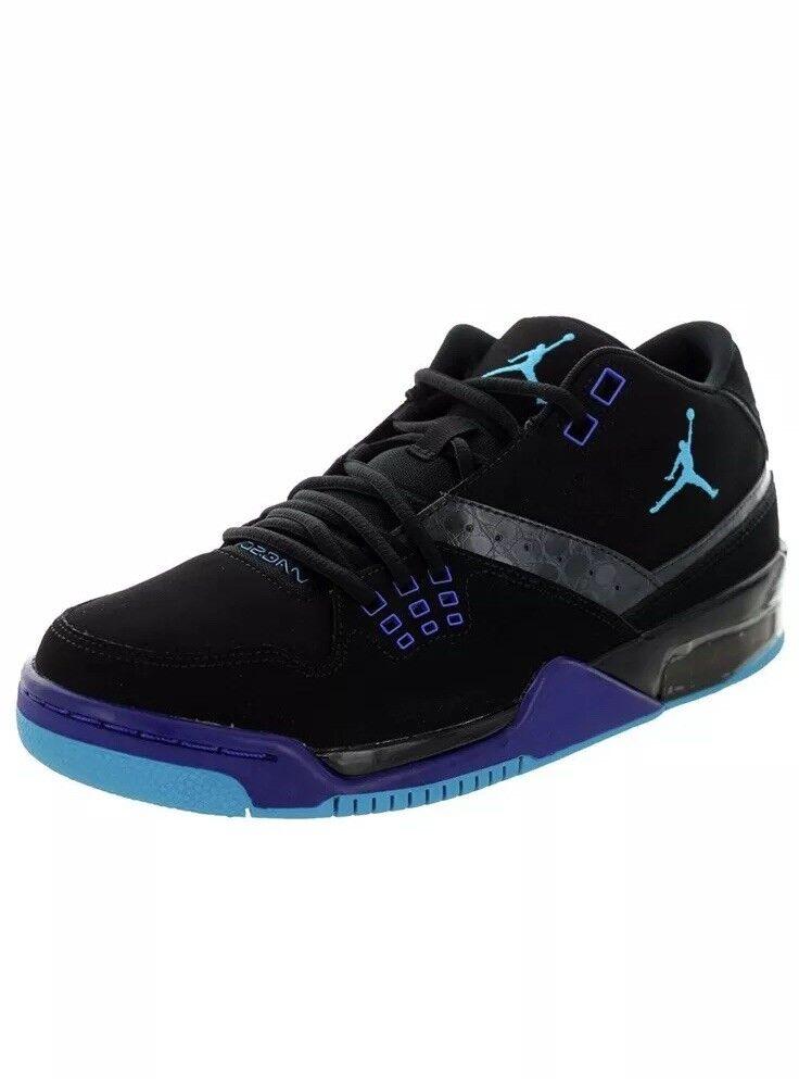 Nike Men's Jordan Flight 23 Off Court shoes 317820-013 Black blueee Lagoon 11 New