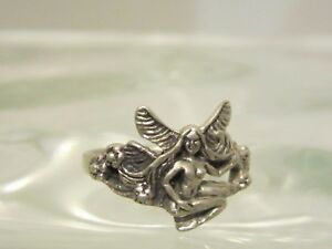 925 sterling silver fairly ring size 6.5 jewellery Vintage