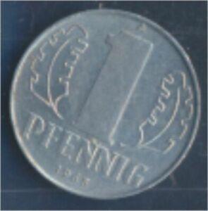 DDR-Jagerno-1508-1965-A-ext-fine-Aluminum-1965-1-Pfennig-State-Emblem-7849397