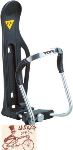 TOPEAK MODULA II ALLOY QUICK ADJUST BLACK WATER BOTTLE CAGE