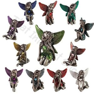 Pewter-Fairy-Birthstone-Collectables-Fairies-Gemstone-Ornament-Gift-Boxed