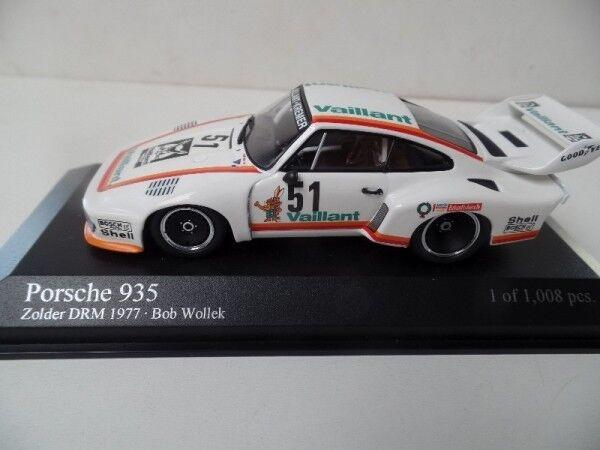1 43 minichamps PORSCHE 935 Zolder DRM 1977 Bob Wollek