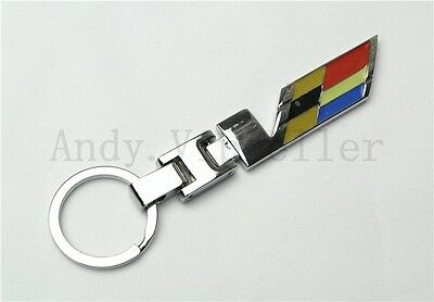1Pcs Vip Luxury Car Vehicle V KeyChains Great Stainless Metal Key Ring Charms