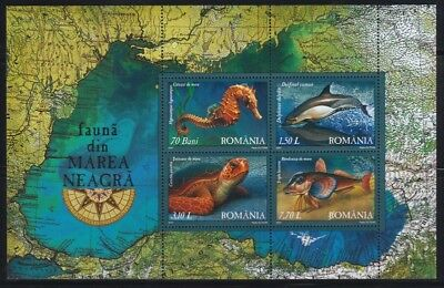 seepferd Posfrisch Hell In Farbe Schildkröte Liefern Rumänien 2007 Block393 Meerestiere Delphin