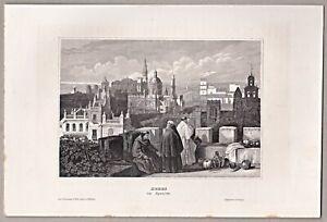 Spanien, Espana, - Ansicht von XERES - Original Stahlstich 1850