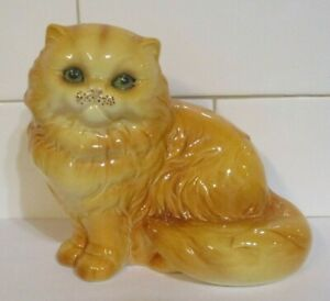 Vintage Goebel Persian Cat Porcelain Figurine #3102512 Green Eyes Mint Condition