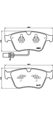 4-teilig Brembo P 24 065 Bremsbelagsatz Scheibenbremse
