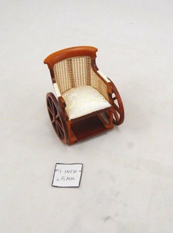 Victorian ruedachair  -  1 12 scale bambolahouse wooden miniature P6066  promozioni