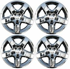 "NEW 2008-2012 Chevy MALIBU 17"" 5-spoke CHROME Hubcap Wheelcover SET of 4"