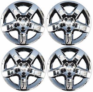 NEW-2008-2012-Chevy-MALIBU-17-034-5-spoke-CHROME-Hubcap-Wheelcover-SET-of-4