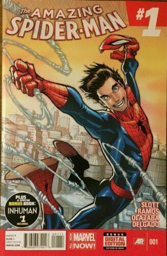 AMAZING SPIDERMAN #1 2014 MARVEL COMICS VF//NM