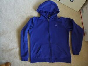 Women-039-s-Under-Armour-UA-Purple-Full-Zip-Hooded-Sweatshirt-Hoodie-Jacket-Size-L