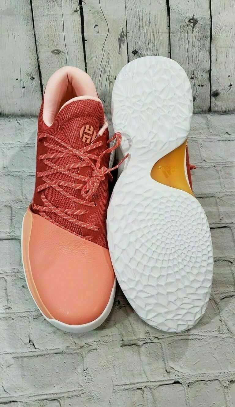adidas Harden basketball shoes coral trace scarlet AH2119 SIZE 10 16  NEW 12.5
