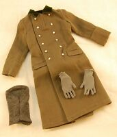 Did Thomas Ww2 German Heer Officer Greatcoat, Gloves, Touque