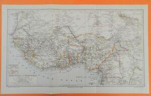 Kapkolonien DSWA Deutsch-Südwest-Afrika Matabele Reich Oranje   LANDKARTE 1894