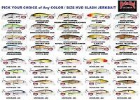 Strike King Jerkbait Kvd Slash Junior 200 Or Kevin Vandam 300 Any Size Or Color