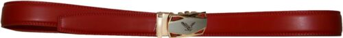 men/'s belt leather dress belt quick comfort automatic lock eagle buckle up to 50
