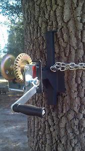 Tree hoist EZ - WINCH MOUNT for EZ- Feeder Hanger hand crank hog deer hunting US