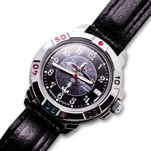 VOSTOK-RUSSO-COMANDANTE-sottomarino-Orologio-da-Polso-Meccanico-Nero-2414-431831