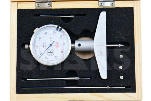 """0-22/"""" X .001/"""" DIAL INDICATOR DEPTH GAGE SET HARDENED"""