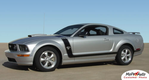 Fastback 2 Boss Hood Side Stripes 3M Vinyl Graphic Decal 2005-2009 Ford Mustang