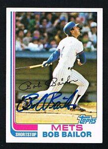 Bob-Bailor-79-signed-autograph-auto-1982-Topps-Baseball-Trading-Card