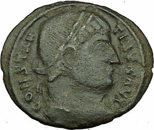 Constantine-I-The-Great-Ancient-Roman-Coin-Military-camp-or-bivouac-gate-i35456