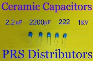 5 Pieces Capacitor 4,7nf 1000v 1kv Ceramic High Voltage Murata