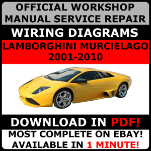 official workshop repair manual for lamborghini murcielago 2001 2010 rh ebay co uk lamborghini gallardo repair manual lamborghini gallardo repair manual