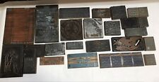 Large Lot Vintage Letterpress Print Type Wood Blocks Designs Advertising Plus