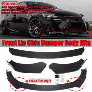 Front Bumper Lip Body Kit Spoiler For LEXUS IS200t IS250 IS350 NX200t NX300H