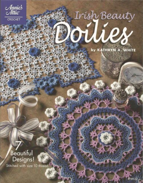 Irish Beauty Doilies Book Crochet Patterns Annies Attic Heart Round
