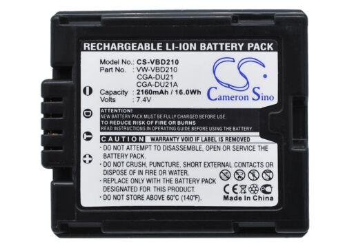 Li-ion batería para Panasonic Cga-du21a Pv-gs320 Pv-gs80 Cga-du21 Vdr-d300eb-s