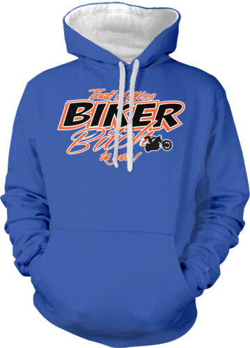 That/'s Miss Biker B To You Funny Humour Motorcycle Rebel 2-tone Hoodie Pullover