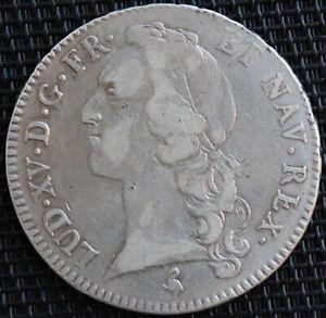 FRANCE-LOUIS-XV-ECU-AU-BANDEAU-1762-A-ARGENT
