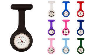 Censi-Silicona-Medico-Enfermero-reloj-de-bolsillo-Con-Broche-Para-Tunica-Fecha