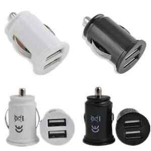 New-Dual-USB-2-Port-Car-Charger-Adaptor-Mini-Bullet-For-iPhone-6-6S-Plus-Samsung